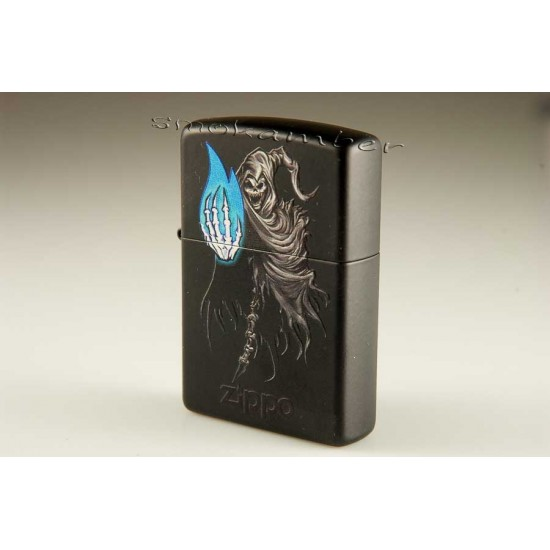 Zippo 28033 Death And Flame Black