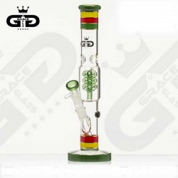 Bong  Grace Glass Funky Twist Rasta