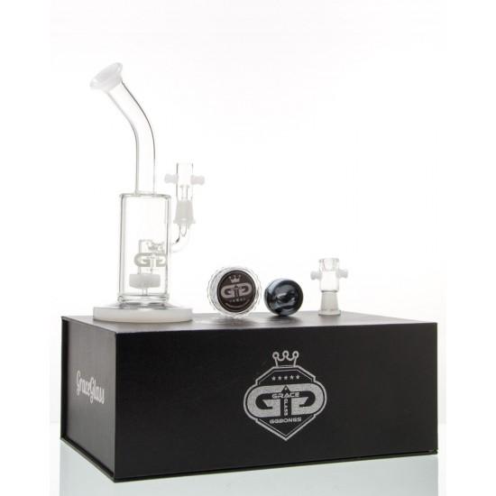 Bong Oil Grace Glass Saxo Bubbler- White G636W