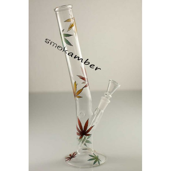 Multi Leaf Glass Bong