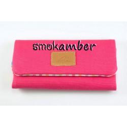 Καπνοθήκη Υφασμάτινη Τζιν Mestango Ροζ