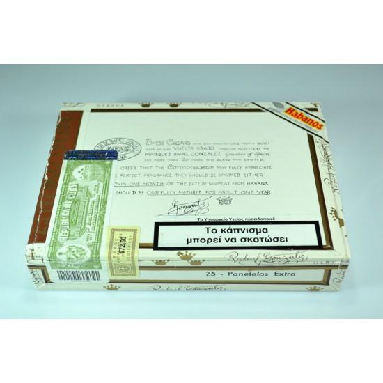 Rafael Gonzales Panatelas extra box of 25