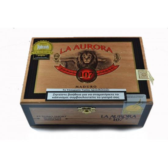 La Aurora Sumo short Maduro Robusto box of 21