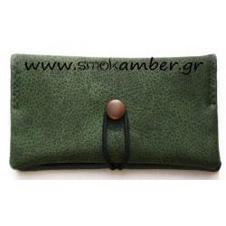 Καπνοθήκη Tεχνόδερμα Simona Πράσινη 997-71