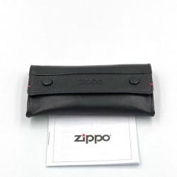 Καπνοθήκη Zippo Μαύρη Δερμάτινη