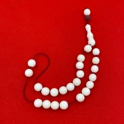 Κομπολόι Από Κόκαλο Λευκό Σε Κόκκινο Κορδόνι