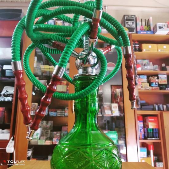Ναργιλές Πράσινος Με Τρία Καλάμια