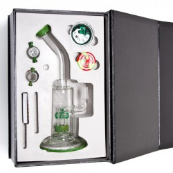 Bong  Grace Glass Saxo Bubbler- Green G636Gus