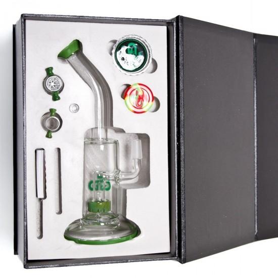 Bong  Grace Glass Saxo Bubbler- Green G636Gus