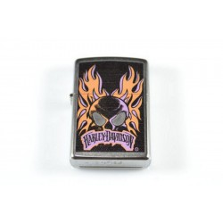 Zippo Harley-Davidson skull with flames
