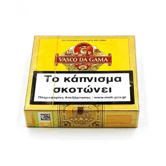 Vasco Da Gama 20 Cigarillos Capa De Oro